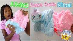 Jumbo Cotton Candy Slime!   + Special Guest!   Goo Goo Galaxy