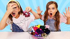 Colored Scrunchies Pick My Slime Ingredients Challenge 2! | JKrew