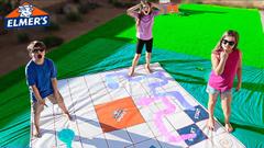 Giant Board Game Slime Challenge | JKrew