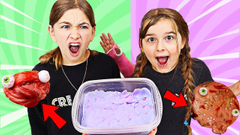 Turn This slime INTO  HALLOWEEN SLIME CHALLENGE Part 2!  JKrew