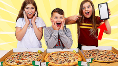 Last to Stop Eating PIZZA Wins Mystery Box!