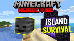 Hunting for Wither Skeleton Skull! (Minecraft Island Survival) Part 8