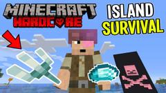 Trident and Diamonds!! (Minecraft Island Survival) Part 13