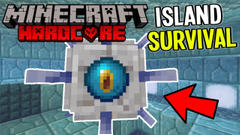 Elder Guardians Battle and Conduit Power! (Minecraft Island Survival) Part 17