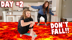 LAST TO LEAVE THE SKATEBOARD WINS!! FLOOR IS LAVA!! **HILARIOUS** | JKREW