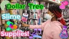 Shopping For Slime Supplies At Dollar Tree!