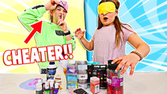 FIX THIS SLIME But You Pick Slime INGREDIENTS Blindfolded!! | JKREW