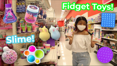 Fidget Toys Shopping At Target + Store Bought Slime Shopping