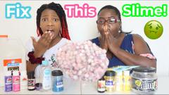 Make This Ugly Slime Pretty Slime Challenge!   Mom vs Daughter!