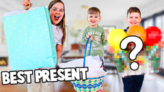 WHO BUYS THE BEST PRESENT WINS MYSTERY PRIZE!! **PART 1** | JKREW