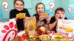 GUESS The FAST FOOD Restaurant Challenge!! Winner Wins $1000!! | JKREW
