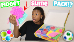Testing Amazon Slime Kits   Fidget Toys Pack