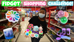 Fidget Toys Slime Shopping At Walmart   I'll Buy Anything You Can Carry Challenge