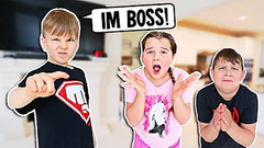 OUR LITTLE BROTHER IS OUR BOSS FOR 24 HOURS!! | JKREW
