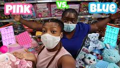 Extreme Slime Challenge!   Pink Vs Blue Shopping Challenge!