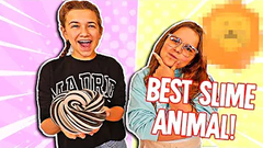 WHO CAN MAKE THE BEST ANIMAL MADE OUT OF SLIME!! | JKREW