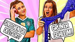 SPEAKING ONLY GERMAN TO MY AMERICAN KIDS TO MAKE SLIME!! | JKREW