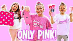 Buying and Eating ONLY PINK For 24 Hours!! | JKREW