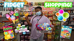 Shopping For Fidgets At 5 Below + Store Bought Slime Shopping