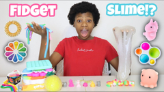 Fidgets Into Clear Jiggly Slime!