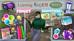 Shopping For Fidgets At Learning Express + Store Bought Slime Shopping