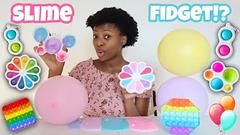 Slime Into Fidgets!   Pop It Palette Birthday Edition!