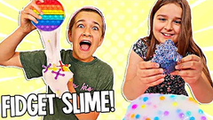 LAST TO STOP Adding FIDGETS To SLIME Wins!! **SATISFYING** | JKREW