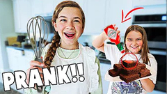 PRANK On Big Sister While She Is BAKING!! **GONE WRONG** | JKREW