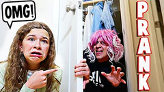 WE CAUGHT SOMEONE LIVING IN OUR CLOSET!! **PRANK** | JKREW