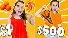 ONE COLOR SHOPPING CHALLENGE!! **$1 VS $500** 🤑🛍 | JKREW