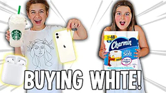 NO BUDGET WHITE ONLY SHOPPING CHALLENGE!! | JKREW