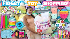 Fidget Toys Shopping At Learning Express + Store Bought Slime Shopping!