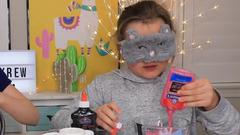 Blindfolded Slime PRANK Challenge!!! **cheating**