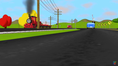 Help Shawn The Train teach the car about traffic signs