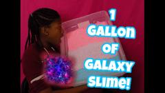 Making 1 Gallon Of Galaxy Floam Slime!   Peachy Queen  