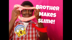 Brother Makes Slime For The First Time!   Peachy Queen  