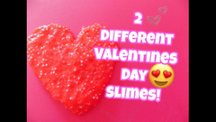How To Make 2 Different Valentines Day Slimes!    Peachy Queen   
