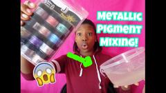 Mixing 12 Metallic Pigments Into Jumbo Clear Slime!