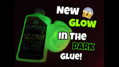 Testing New Elmers Glow In The Dark Glue! Will It Slime!?   Peachy Queen  