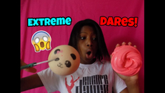 Extreme Slime And Squishy Dares! *Cutting Squishy!* + Big Announcemen!t   Peachy Queen  