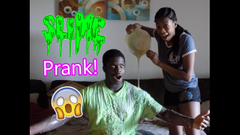 Slime Prank On Brother! I Poured Melted Slime On HIm!