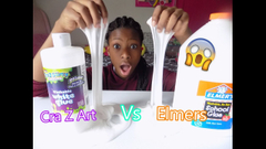 Crazy Art Glue Vs Elmers Glue Slime!   Peachy Queen  