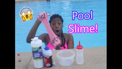 Making Slime At A Public Pool! (Almost Got Busted!)   Peachy Queen  