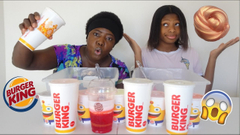 Don't Choose The Wrong Burger King Cup Slime Challenge!   Peachy Queen