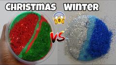 Christmas Vs Winter Slime   Vlogmas Day 13   Peachy Queen
