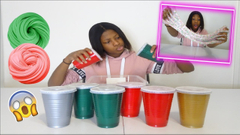 Don't Choose The Wrong Christmas Cup Slime Challenge!