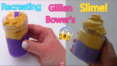 Recreating Gillian Bower's Slimes Part 1!   Peanut Butter + Jelly Slime!