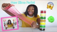 Testing Karina Garcia's New Slime Packs! *Are They Good!?*