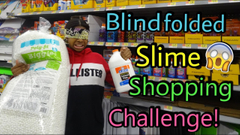Blindfolded Slime Shopping Challenge!   Peachy Queen
