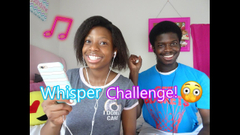 Extremely Funny Whisper Challenge W/ My Brother!   Peachy Queen